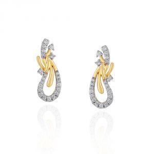 Buy Asmi Yellow Gold Diamond Earrings Ide00883si-jk18y online
