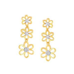Buy Me-Solitaire Yellow Gold Diamond Earrings online