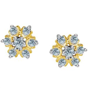 Buy Nakshatra Yellow Gold Diamond Earrings Nera031bsi-jk18y online
