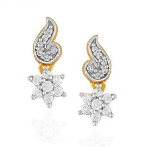 Buy Nakshatra Yellow Gold Diamond Earrings Nera076si-jk18y online