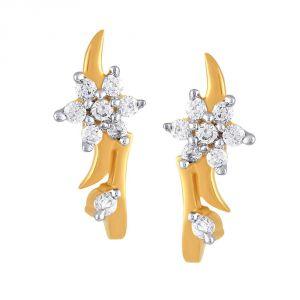 Buy Nakshatra Yellow Gold Diamond Earrings Nerc403si-jk18y online