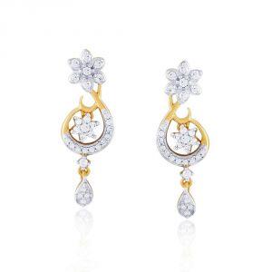 Buy Nirvana Yellow Gold Diamond Earrings Nper267si-jk18y online