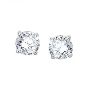 Buy Me-solitaire Yellow Gold Diamond Earrings Pe10427ksi-jk18y online