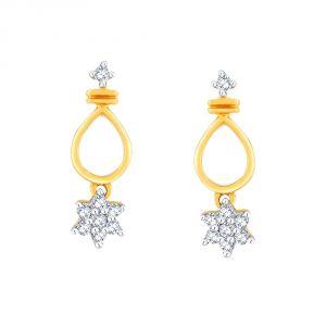 Buy Nakshatra Yellow Gold Diamond Earrings Pe10639si-jk18y online