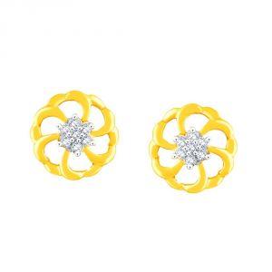 Buy Nakshatra Yellow Gold Diamond Earrings Pe10720si-jk18y online