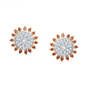 Buy Parineeta Yellow Gold Diamond Earrings Pe11280si-jk18y online