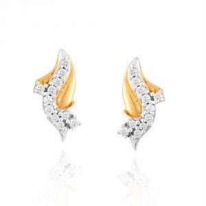 Buy Asmi Yellow Gold Diamond Earrings Pe11650si-jk18y online