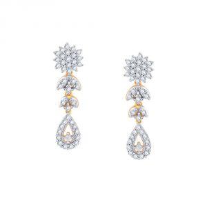 Buy Sangini Yellow Gold Diamond Earrings Pe12549si-jk18y online