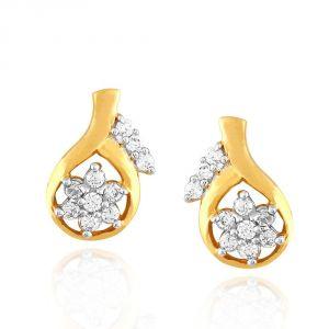 Buy Nakshatra Yellow Gold Diamond Earrings Pe13643si-jk18y online