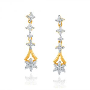 Buy Nakshatra Yellow Gold Diamond Earrings Pe14590si-jk18y online