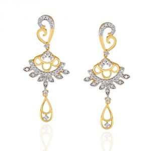 Buy Maya Diamond Yellow Gold Diamond Earrings online