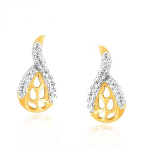 Buy Nirvana Yellow Gold Diamond Earrings Pe16942si-jk18y online