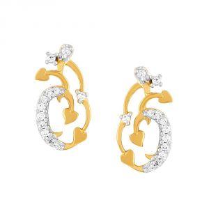 Buy Asmi Yellow Gold Diamond Earrings Pe16979si-jk18y online