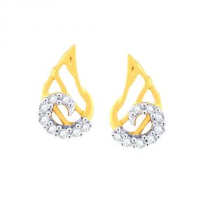 Buy Asmi Yellow Gold Diamond Earrings Pe17150si-jk18y online