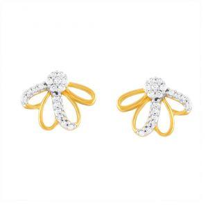Buy Nirvana Yellow Gold Diamond Earrings Pe17487si-jk18y online