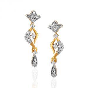 Buy Sangini Yellow Gold Diamond Earrings Pe17816si-jk18y online