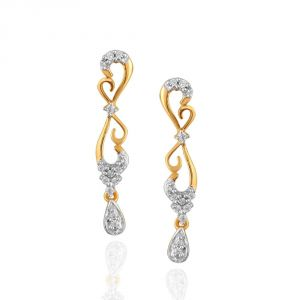 Buy Asmi Yellow Gold Diamond Earrings online