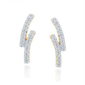 Buy Asmi Yellow Gold Diamond Earrings Pe17995si-jk18y online