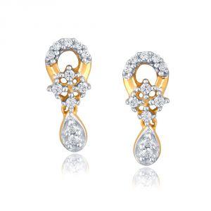 Buy Nakshatra Yellow Gold Diamond Earrings Pe18306si-jk18y online