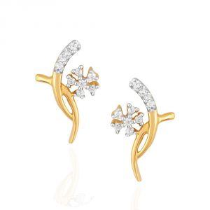 Buy Asmi Yellow Gold Diamond Earrings Pe18763si-jk18y online