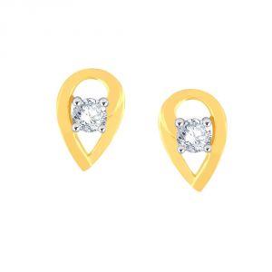 Buy Me-solitaire Yellow Gold Diamond Earrings Pe19479si-jk18y online