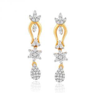 Buy Nakshatra Yellow Gold Diamond Earrings Pe19518si-jk18y online