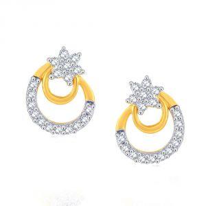 Buy Nakshatra Yellow Gold Diamond Earrings Pe19605si-jk18y online