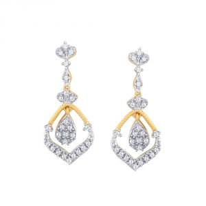 Buy Asmi Yellow Gold Diamond Earrings Pe19663si-jk18y online