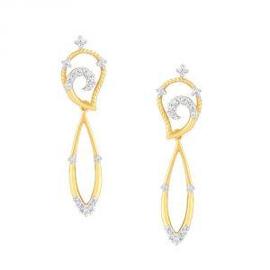 Buy Asmi Yellow Gold Diamond Earrings Pe20927si-jk18y online