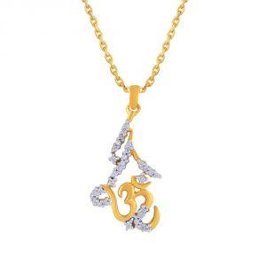 Buy Saumya Yellow Gold Diamond Pendant Lp5065si-jk18y online