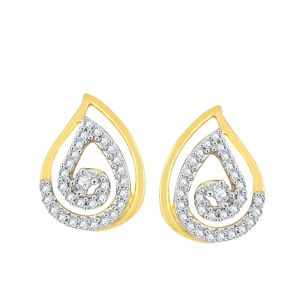 Buy Gili Yellow Gold Diamond Earrings Pe21279si-jk18y online