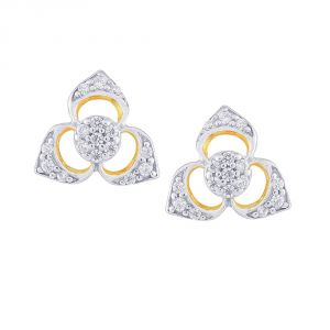 Buy Nirvana Yellow Gold Diamond Earrings Pel555si-jk18y online