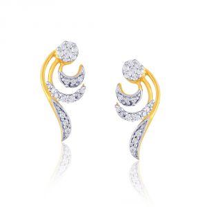 Buy Nirvana Yellow Gold Diamond Earrings Pel563si-jk18y online
