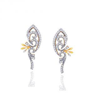 Buy Asmi Yellow Gold Diamond Earrings Ide00547si-jk18y online