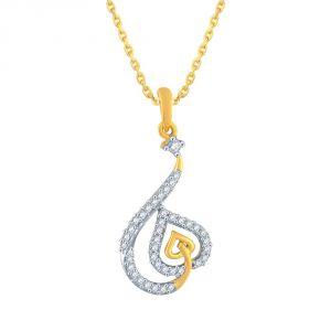 Buy Sangini Yellow Gold Diamond Pendant Aap553si-jk18y online