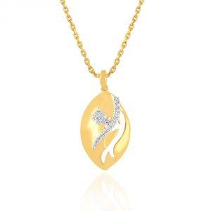 Buy Nirvana Yellow Gold Diamond Pendant Plnp7129si-jk18y online