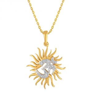 Buy Saumya Yellow Gold Diamond Pendant Pp10125si-jk18y online