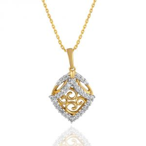 Buy Maya Diamond Yellow Gold Diamond Pendant Pp10590si-jk18y online
