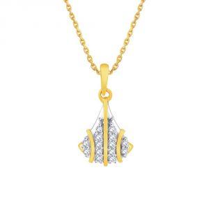 Buy Asmi Yellow Gold Diamond Pendant Pp11335si-jk18y online