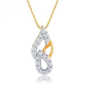 Buy Asmi Yellow Gold Diamond Pendant Pp11336si-jk18y online