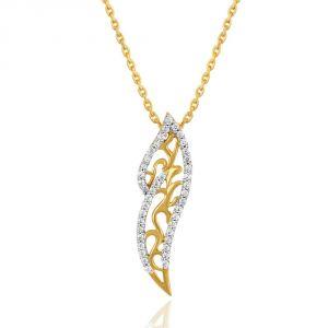 Buy Maya Diamond Yellow Gold Diamond Pendant Pp11957si-jk18y online