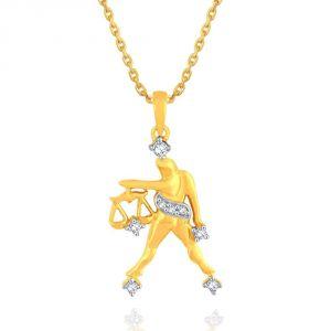 Buy Rashi By Gitanjali Yellow Gold Diamond Pendant Pp12214si-jk18y online
