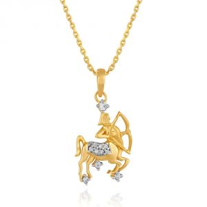 Buy Rashi By Gitanjali Yellow Gold Diamond Pendant Pp12292si-jk18y online