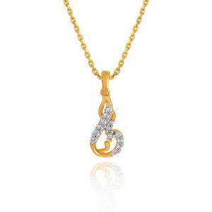 Buy Maya Diamond Yellow Gold Diamond Pendant Pp12435si-jk18y online