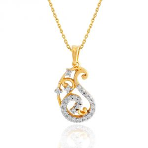 Buy Maya Diamond Yellow Gold Diamond Pendant Pp12727si-jk18y online