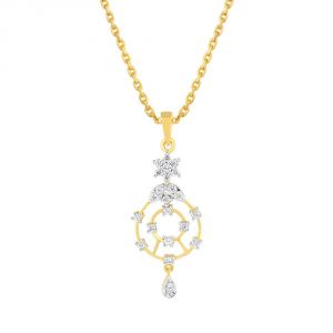 Buy Asmi Yellow Gold Diamond Pendant Pp13625si-jk18y online