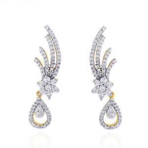 Buy Nakshatra Yellow Gold Diamond Earrings Abe002si-jk18y online