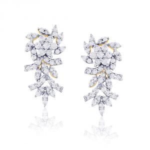 Buy Nakshatra Yellow Gold Diamond Earrings Abe024si-jk18y online