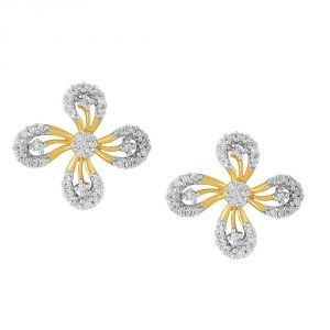 Buy Nirvana Yellow Gold Diamond Earrings Ade01235si-jk18y online