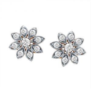 Buy Sangini Yellow Gold Diamond Earrings Ae157si-jk18y online